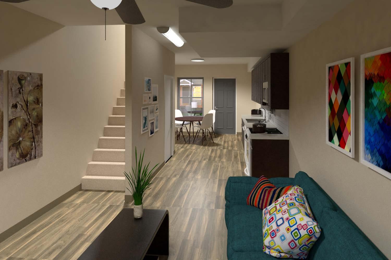 Apartment Unit Living Area